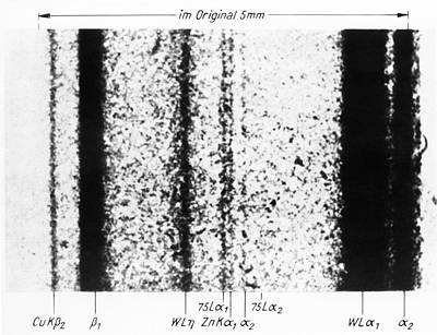 Rhenium Spectral Lines Poster by Emilio Segre Visual Archives/american Institute Of Physics