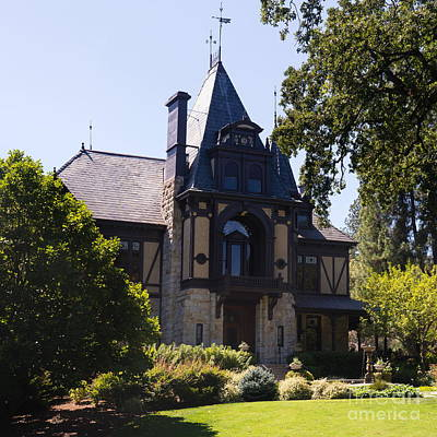 Rhine House At Beringer Winery St Helena Napa California Dsc1719 Square Poster by Wingsdomain Art and Photography