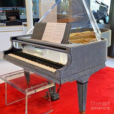 Rhinestone Piano Poster by Mary Deal