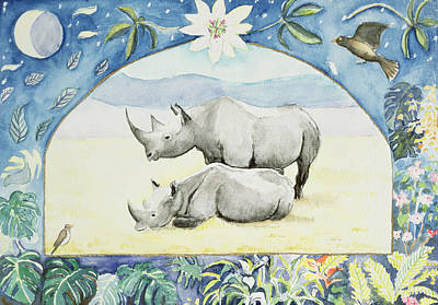 Rhino Month Of February From A Calendar Poster