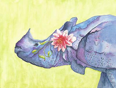 Rhino Whimsy Poster