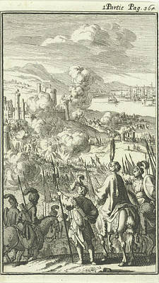 Rhodes Besieged By The Turks, Jan Luyken Poster by Jan Luyken And Charles Angot