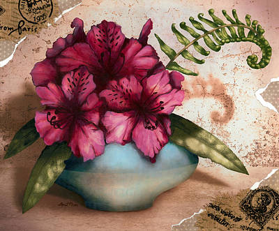 Rhododendron II Poster by April Moen