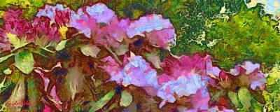 Poster featuring the digital art Rhododendron Splash by Spyder Webb