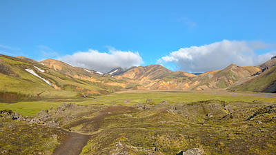 Rhyolite Mountains - Landmannalaugar Trail - Laugavegurinn - Iceland Poster by Steve Lagreca