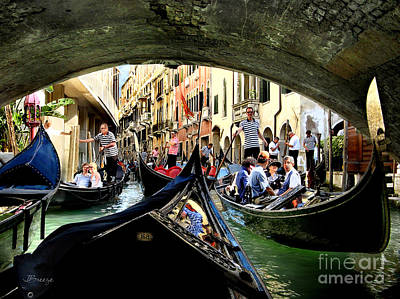 Poster featuring the photograph Rhythm Of Venice by Jennie Breeze