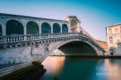Rialto Bridge In The Morning - Venice - Italy Poster