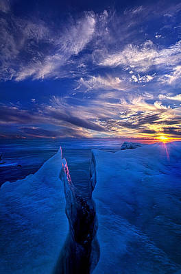 Ribband Of Blue Poster by Phil Koch