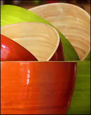 Poster featuring the photograph Rice Bowl Stack by Kim Andelkovic