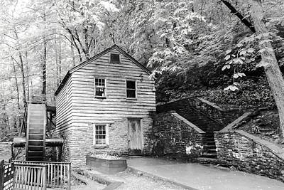 Rice Grist Mill Norris Dam State Park Tennessee - Bw Poster