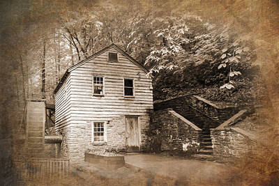 Rice Grist Mill Norris Dam State Park Tennessee Textured Poster