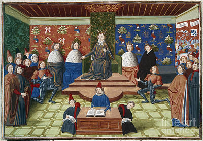 Richard II Banishes Two Earls Poster by British Library