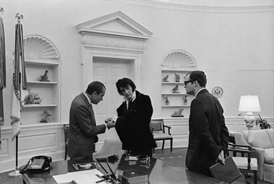 Richard Nixon Meeting With Elvis Poster