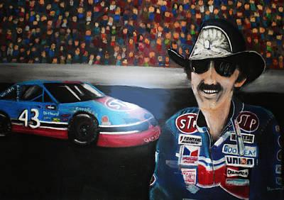Richard Petty And Stp #43 Car Poster by Shannon Gerdauskas