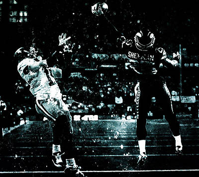 Richard Sherman Gimme Dat Poster by Brian Reaves