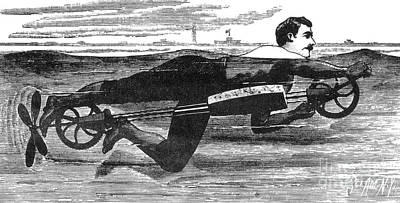 Richardsons Swimming Device 1880 Poster