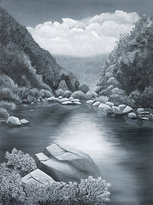 Richland Creek Poster by Garry McMichael