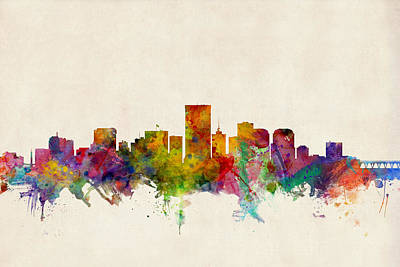 Richmond Virginia Skyline Poster
