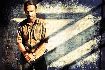 Rick Grimes The Walking Dead 2 Poster by Janice MacLellan