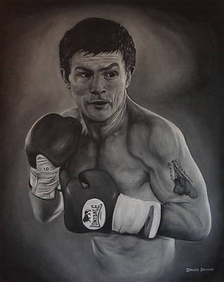 Poster featuring the painting Ricky Hatton by David Dunne