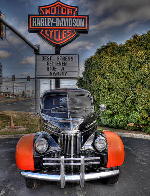 Ride A Harley Poster by Todd Hostetter