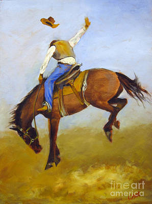 Poster featuring the painting Ride 'em Cowboy by Carol Hart