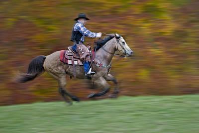 Ride Em Cowboy Poster by Susan Candelario