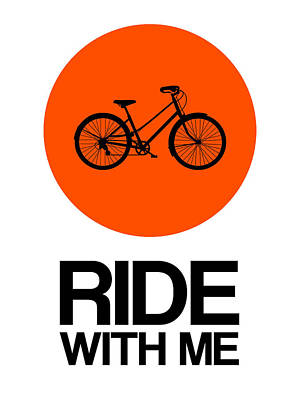Ride With Me Circle Poster 1 Poster by Naxart Studio