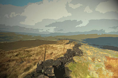 Ridge Between Cats Tor And Pym Chair, A Broken Dry Stone Poster by Litz Collection