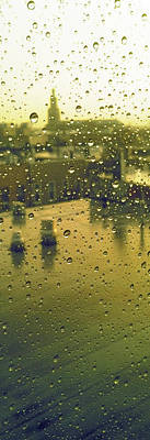 Ridgewood Wet With Rain St Matthias Roman Catholic Church Poster