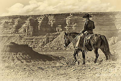 Riding Into The Canyon Poster