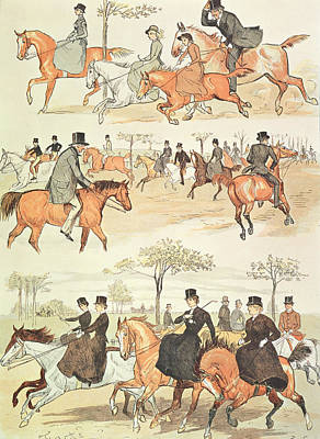 Riding Side-saddle Poster by Randolph Caldecott