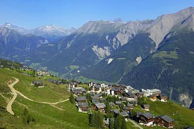 Riederalp Valais Swiss Alps Switzerland Poster
