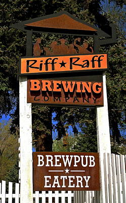 Riff Raff Brewing Poster by Jeff Gater