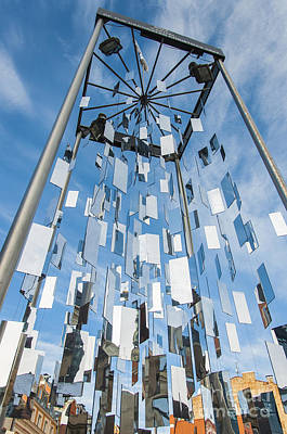 Riga Monument To Christmas Trees Poster by Antony McAulay