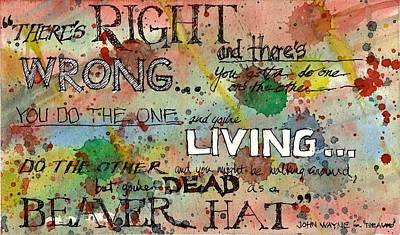 Poster featuring the mixed media Right And Wrong by Tim Oliver