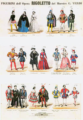 Rigoletto Costumes, 1851 Poster by Granger