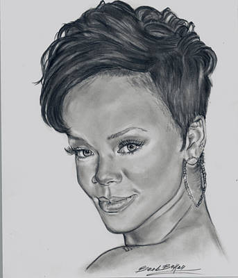 'rihanna' Poster by Barb Baker
