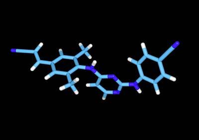 Rilpivirine Hiv Drug Molecule Poster