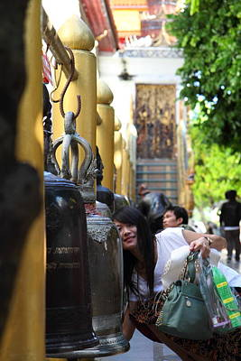 Ringing Of The Bells - Wat Phrathat Doi Suthep - Chiang Mai Thailand - 01132 Poster