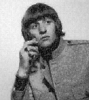 Ringo Starr Mosaic Image 1 Poster by Steve Kearns