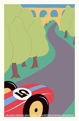 Rio Brazil Grand Prix Poster by Georgia Fowler