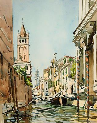 Rio Di San Barnaba In Venice Poster by Mountain Dreams