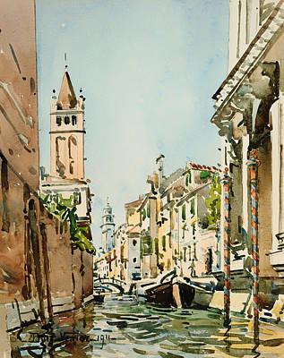 Rio Di San Barnaba - Venice Poster