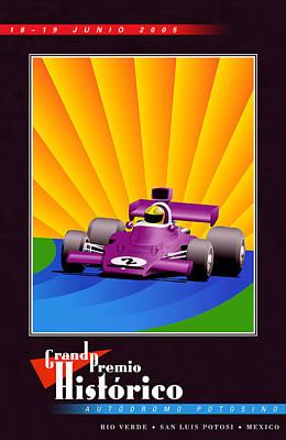 Rio Verde Mexico Historic Grand Prix Poster by Georgia Fowler