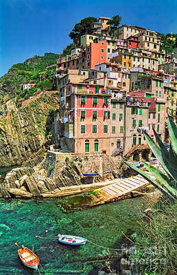 Riomaggiore Poster by Nigel Fletcher-Jones