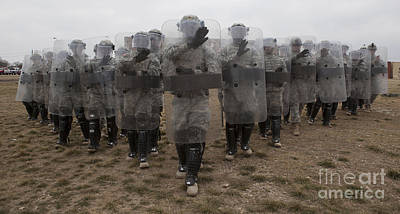 Riot Control Formations At Fort Hood Poster