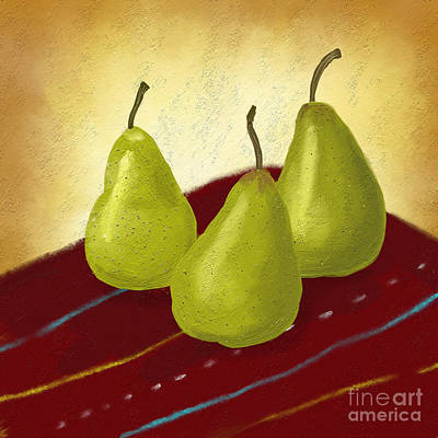 Ripe And Ready Painting Poster by Linda Lees