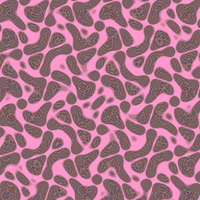 Rippled On Pink Poster