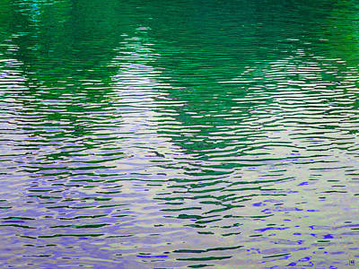 Rippled Reflections Poster by Muriel Levison Goodwin
